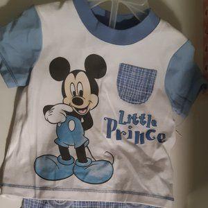 2pc boys Disney Baby Mickey Mousevshort set